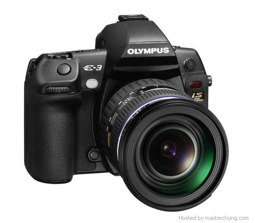 Olympus E3 front view