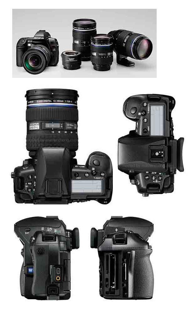 Various look of the new Olympus E-3