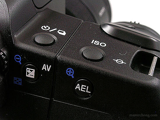 Sony A200 Right Buttons